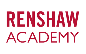 Renshaw Academy logo. Official Sponsor of the Sweet Fest Business Conference. A cake show for bakers and sweet makers.