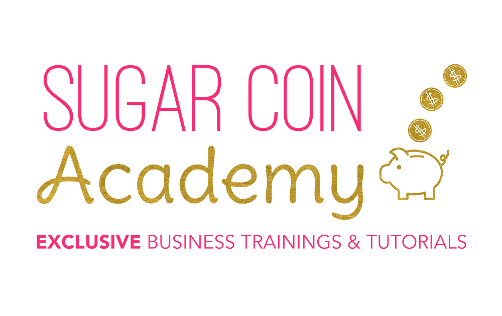Sugar Coin Academy logo. Official Sponsor of the Sweet Fest Business Conference. A cake show for bakers and sweet makers.